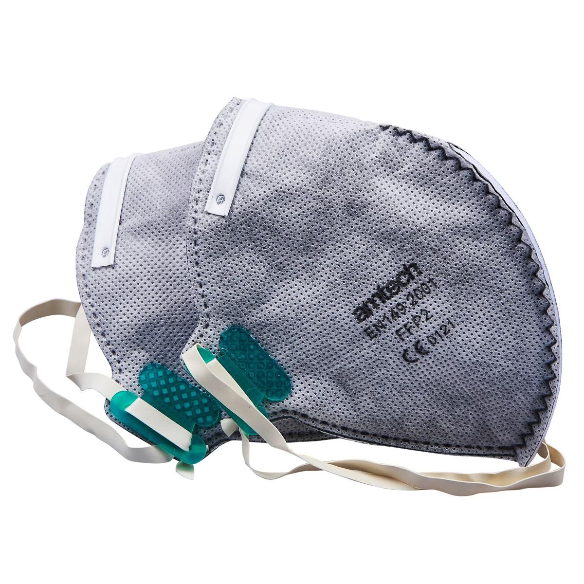 2pc foldable carbon valve ffp2 dust mask - Amtech