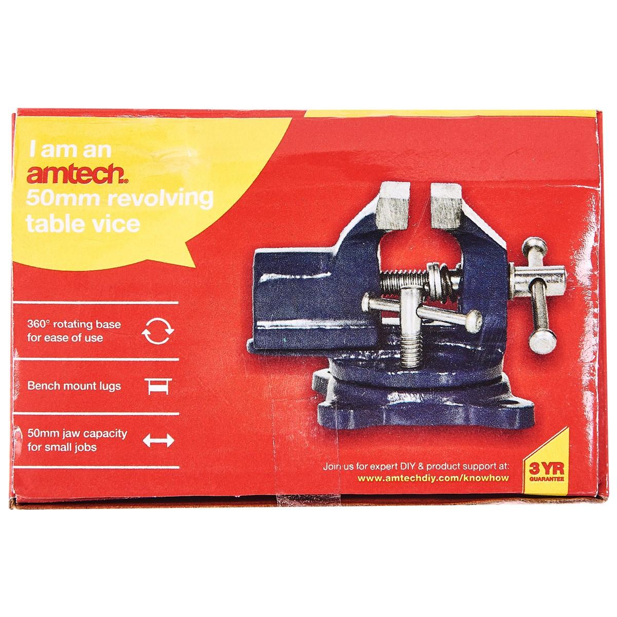 50mm revolving table vice - Amtech