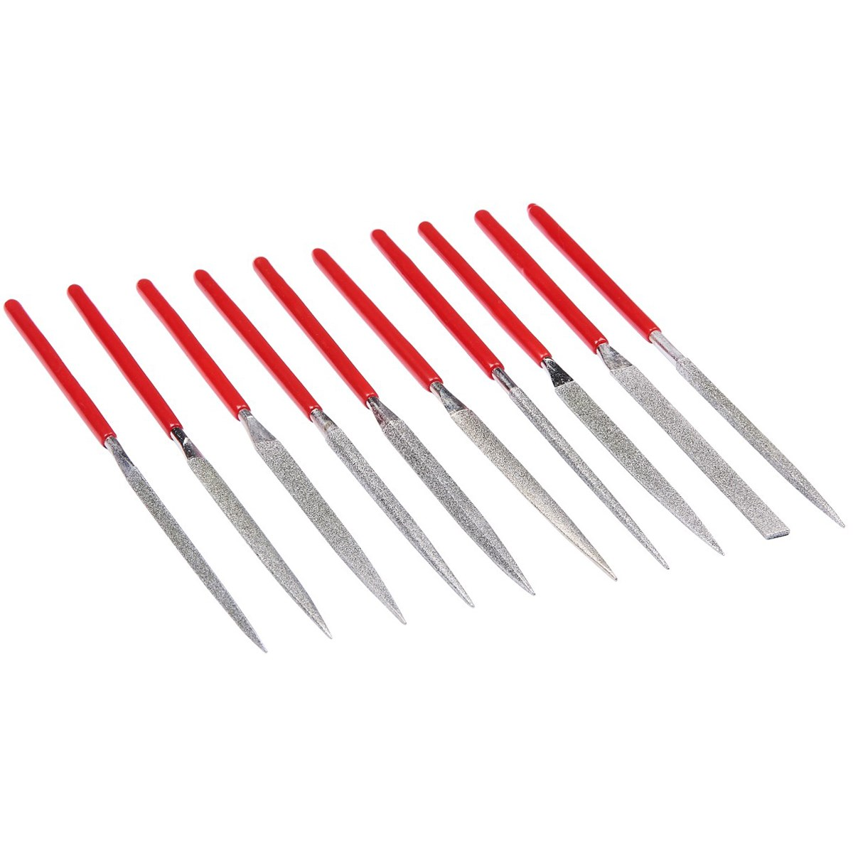10pc diamond needle file set - Amtech