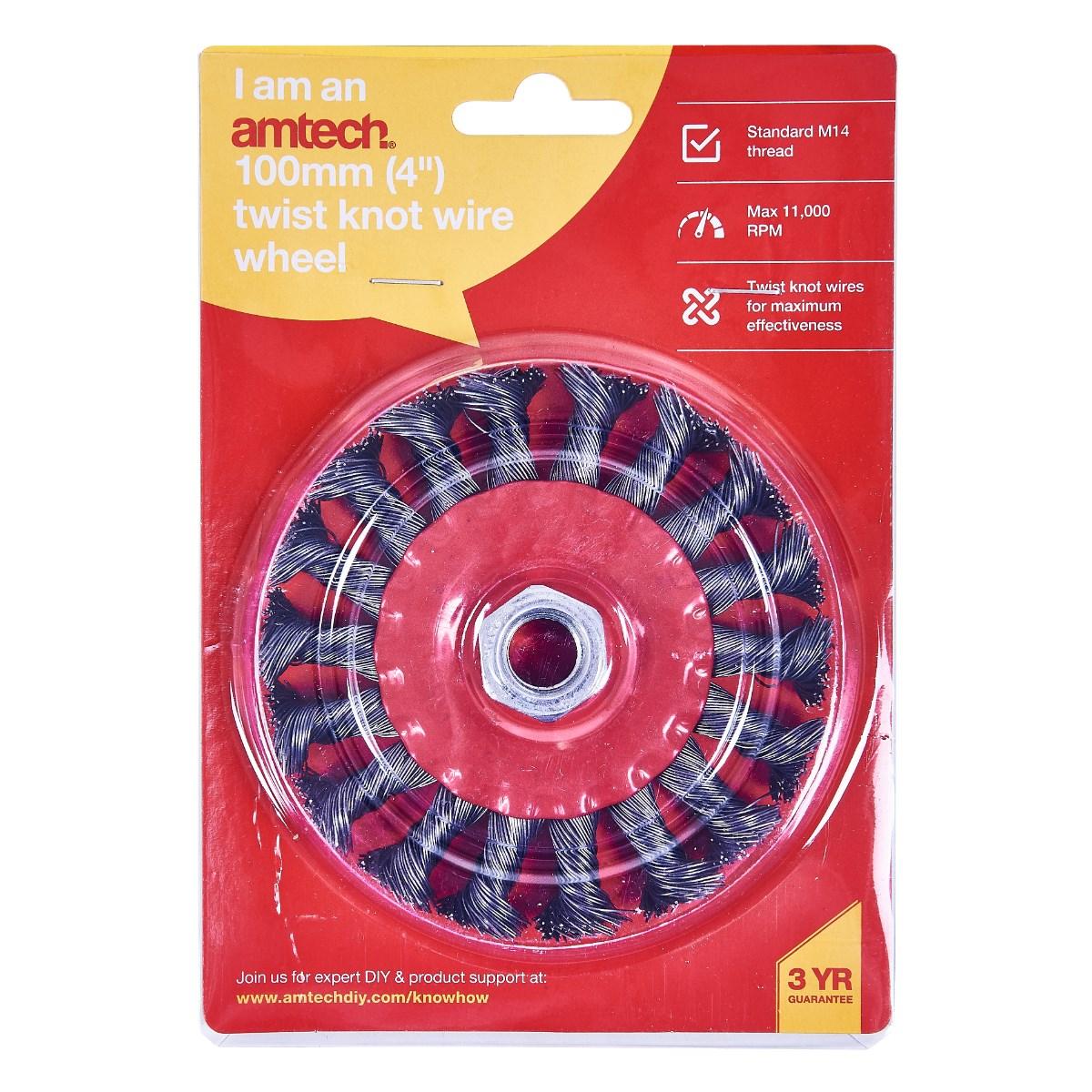Twist Knot Wire Wheel 4 100mm