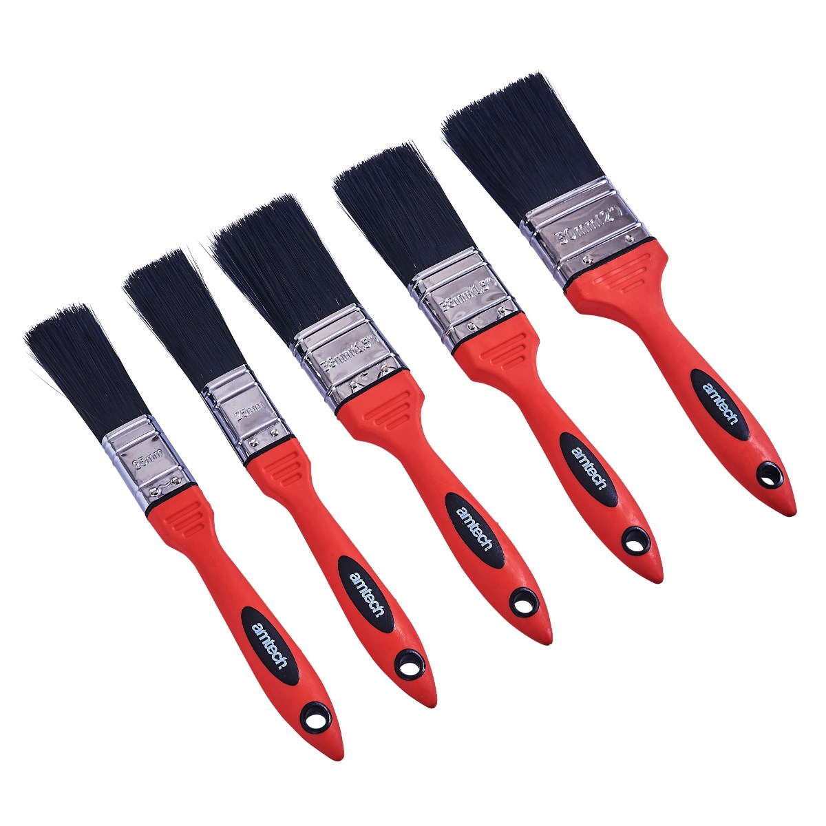 Image of 5pc no bristle loss paint brush set – soft handle