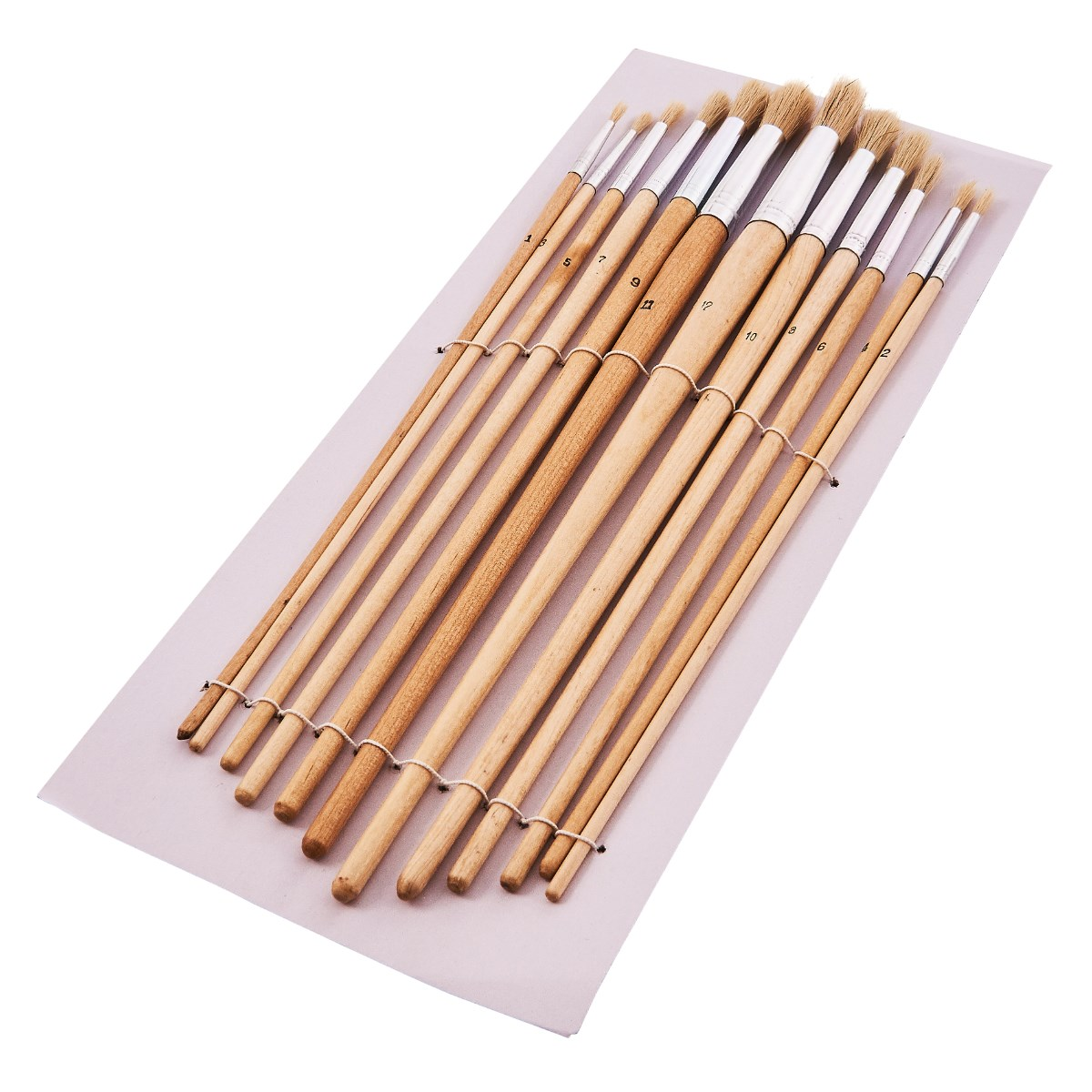 12pc Artists Paint Painting Brush Set Round Heads