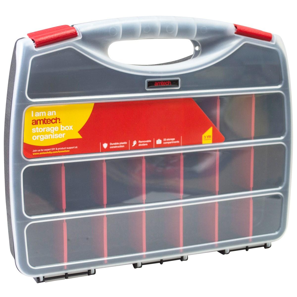 23 section single sided storage box - Amtech